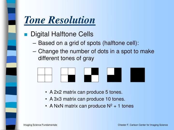 Tone Resolution