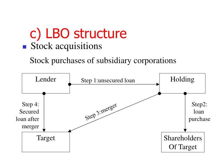 c) LBO structure