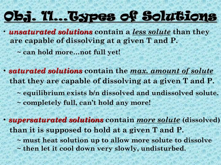 Obj. 11…Types of Solutions