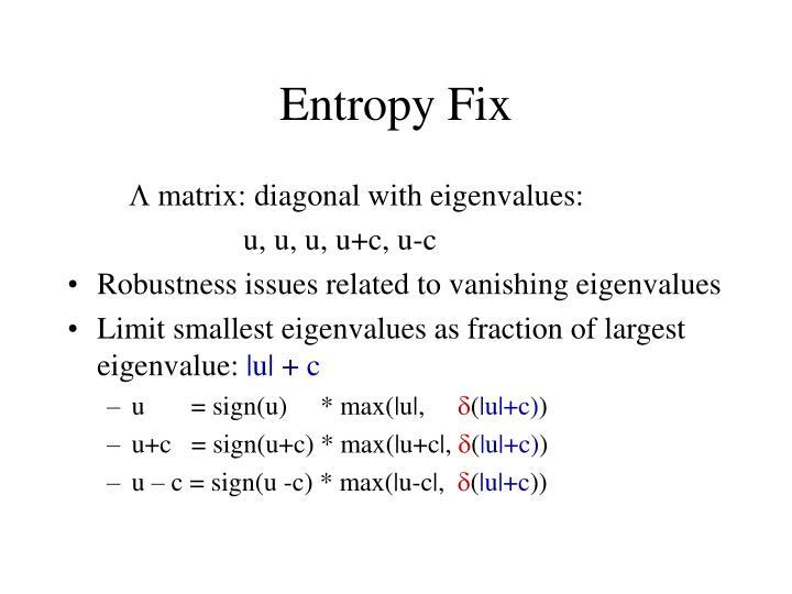 Entropy Fix