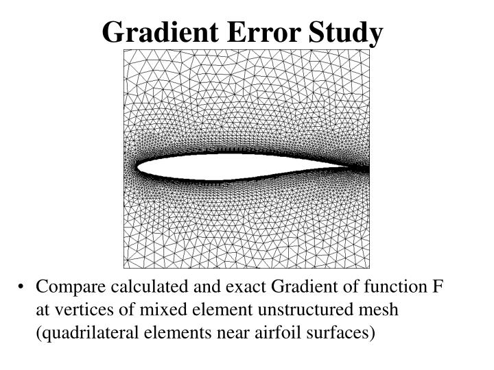 Gradient Error Study