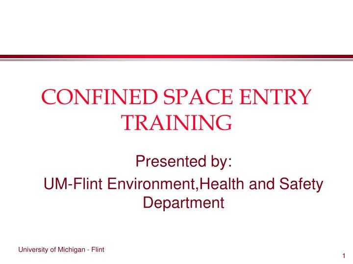 confined space entry training