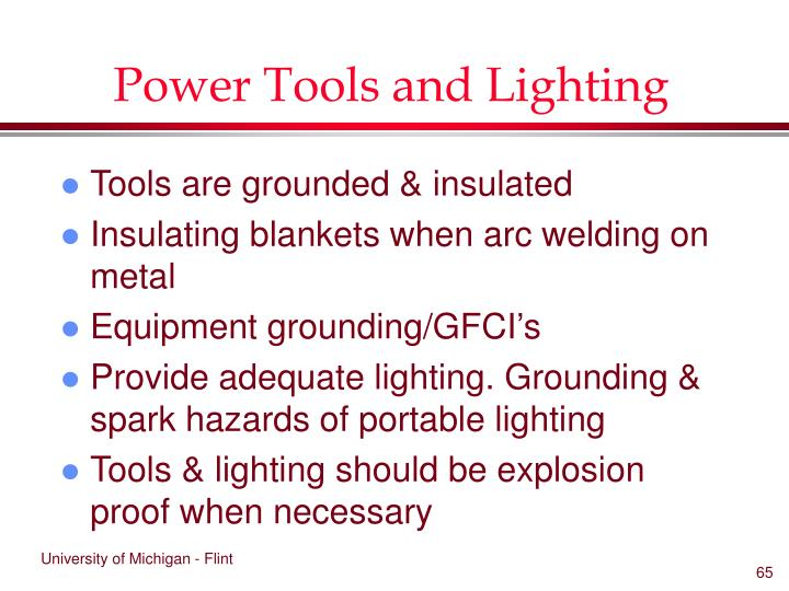 Power Tools and Lighting