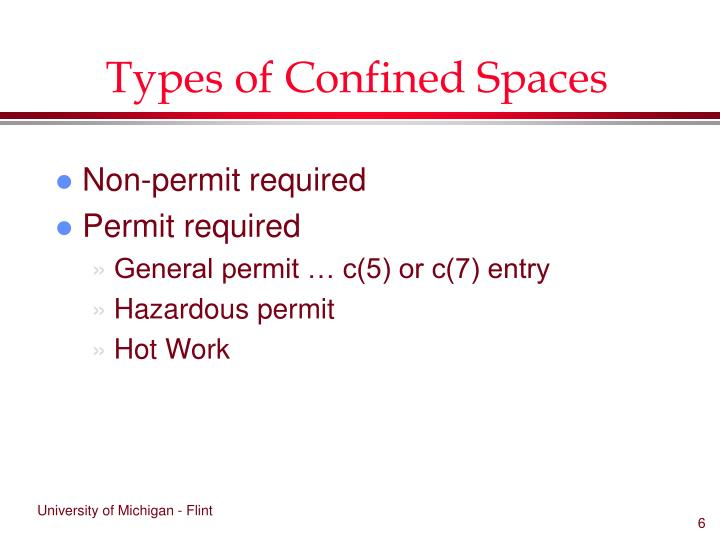 Types of Confined Spaces