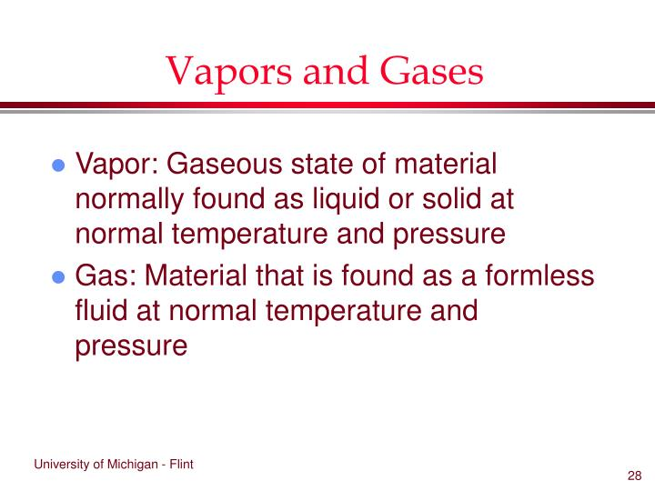 Vapors and Gases