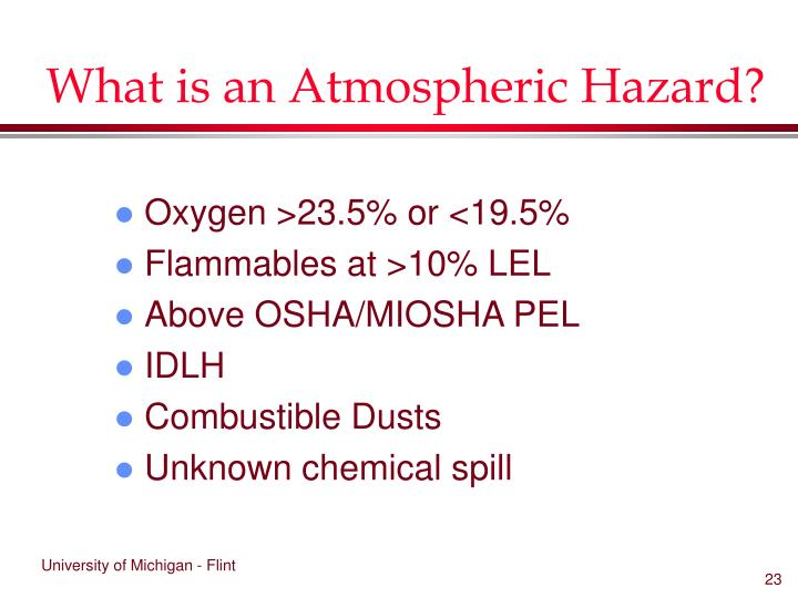 What is an Atmospheric Hazard?