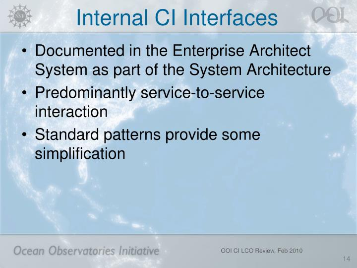 Internal CI Interfaces