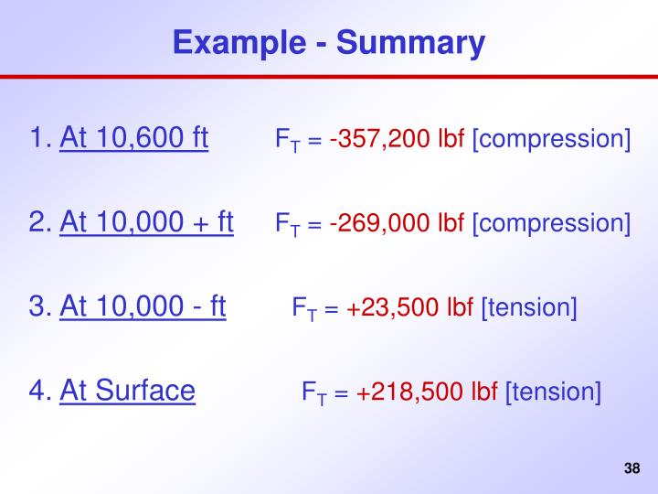Example - Summary