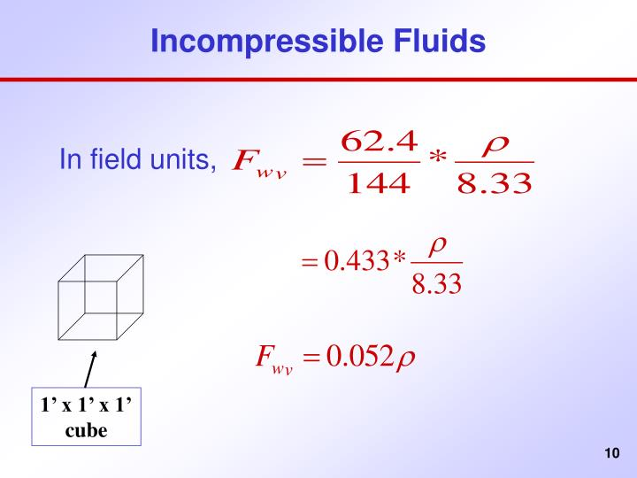 Incompressible Fluids