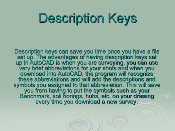 description keys