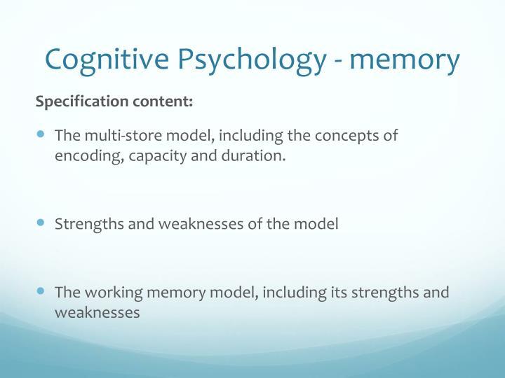 Cognitive Psychology - memory