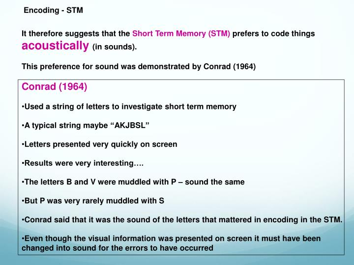 Encoding - STM