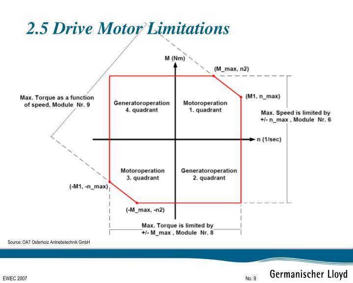 2.5 Drive Motor Limitations