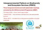 intergovernmental platform on biodiversity and ecosystem services ipbes