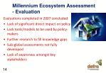 millennium ecosystem assessment evaluation