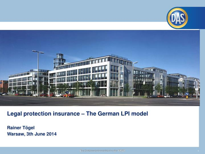 Legal protection insurance – The German LPI model