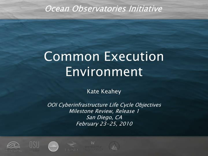 Common Execution Environment