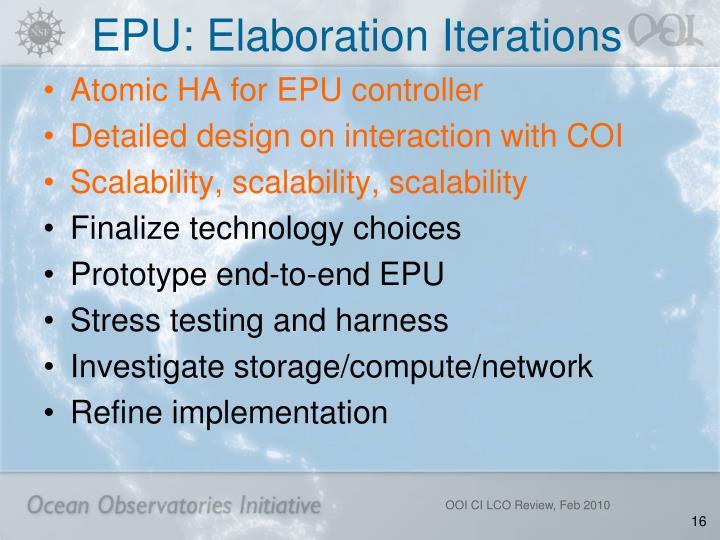 EPU: Elaboration Iterations