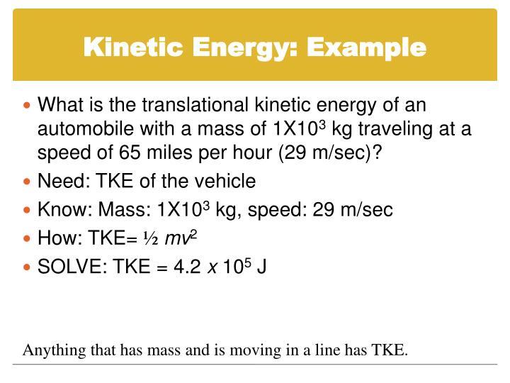 Kinetic Energy: Example