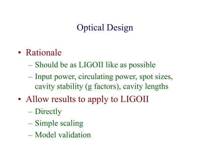 Optical Design