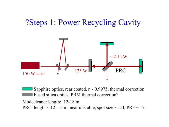 ?Steps 1: Power Recycling Cavity