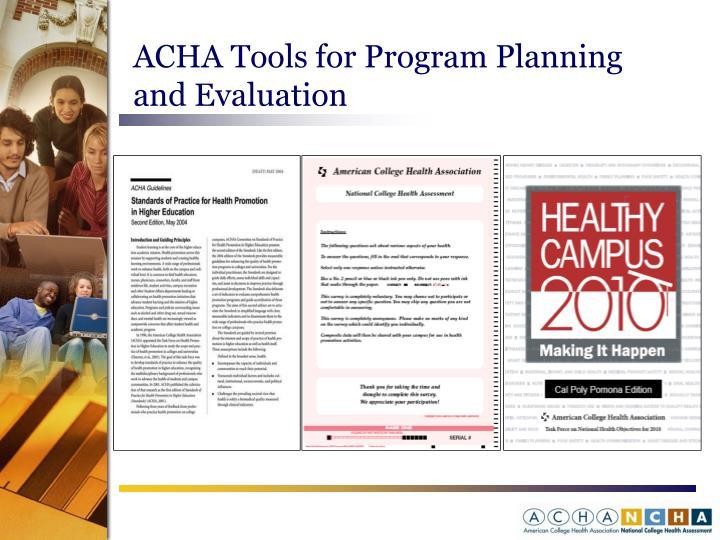 ACHA Tools for Program Planning