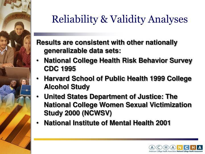 Reliability & Validity Analyses