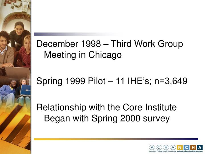 December 1998 – Third Work Group Meeting in Chicago