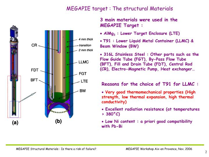 MEGAPIE target : The structural Materials