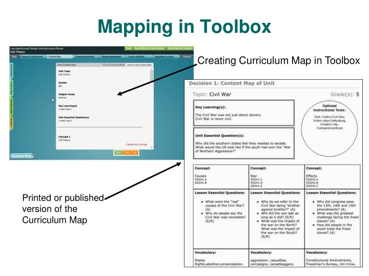Mapping in Toolbox