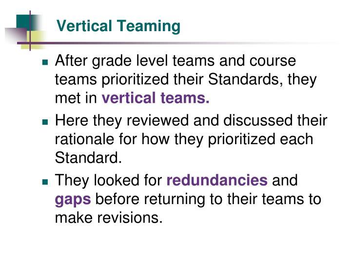 Vertical Teaming