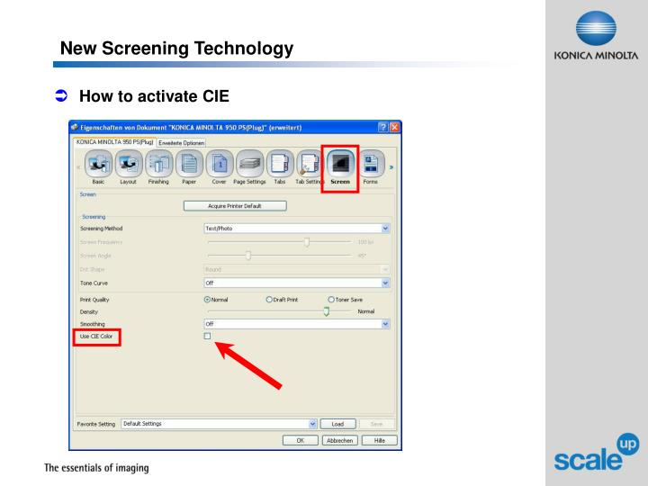 New Screening Technology