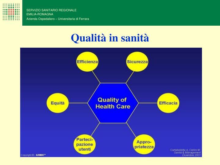 Qualità in sanità