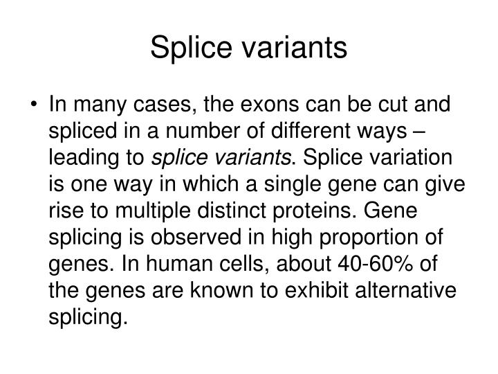 Splice variants