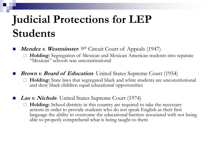 Judicial Protections for LEP Students