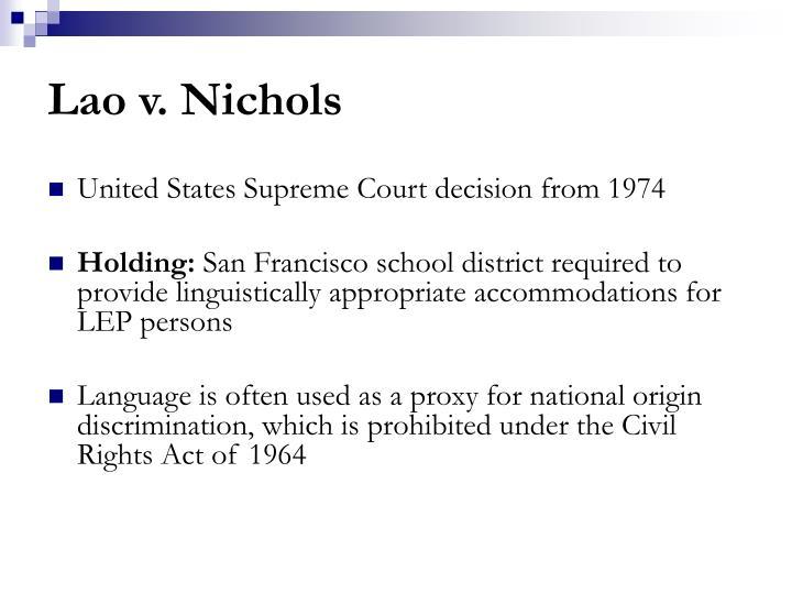 Lao v. Nichols