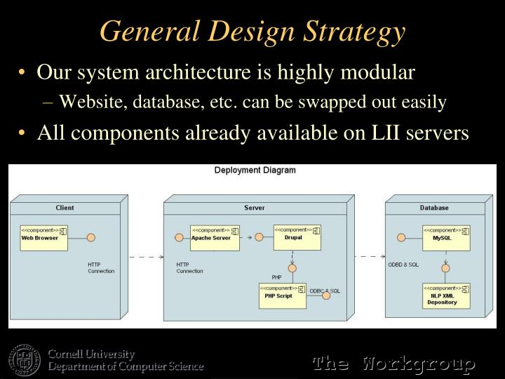 General Design Strategy