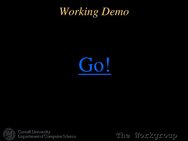 Working Demo