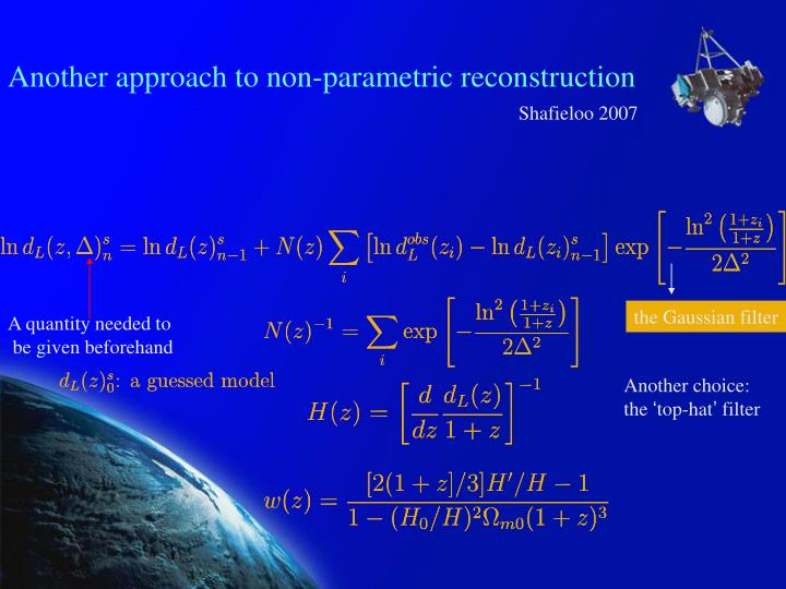 Another approach to non-parametric reconstruction