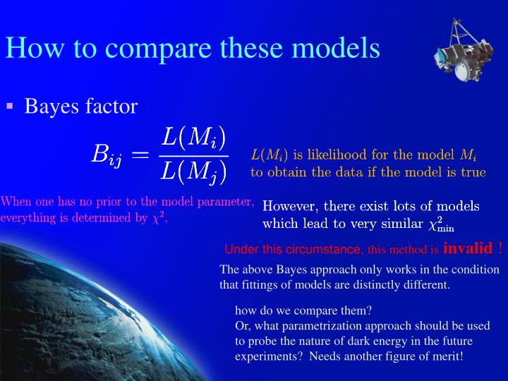 How to compare these models