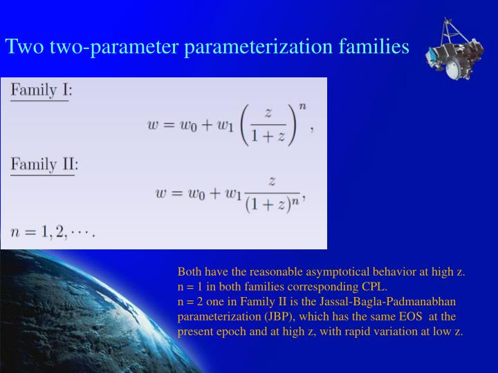 Two two-parameter parameterization families