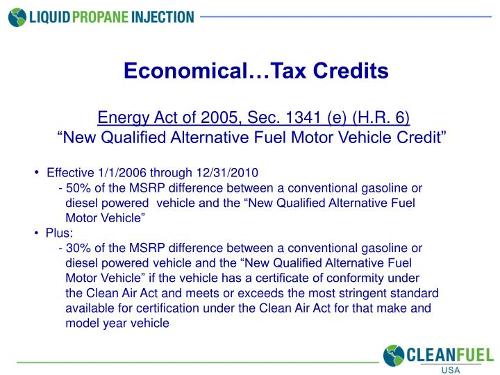 Economical…Tax Credits