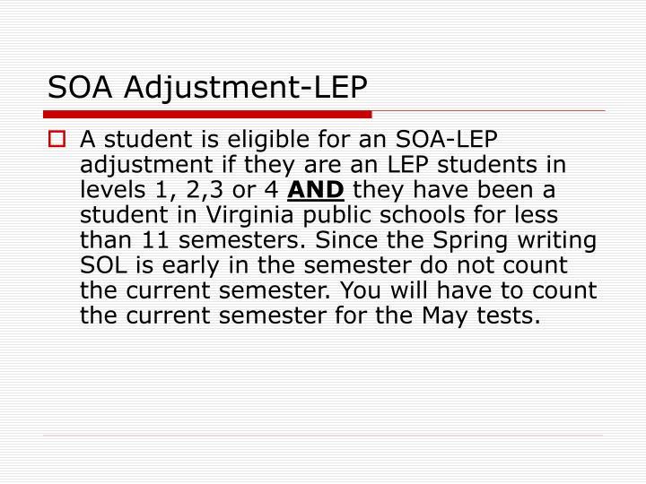 SOA Adjustment-LEP