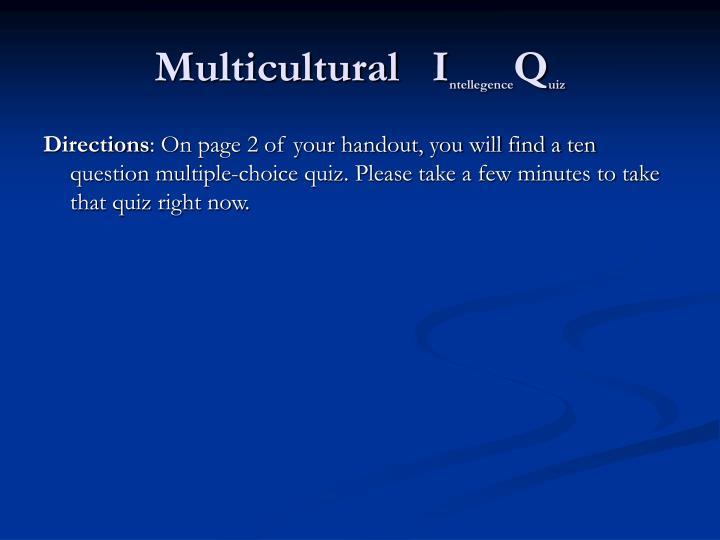 Multicultural   I