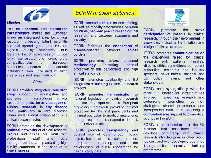 ECRIN mission statement