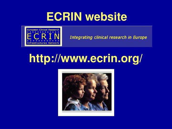 ECRIN website