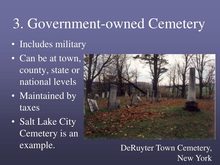 3. Government-owned Cemetery