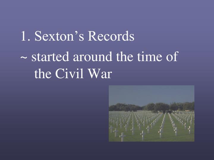 Sexton's Records