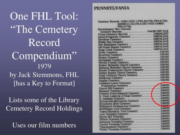 One FHL Tool: