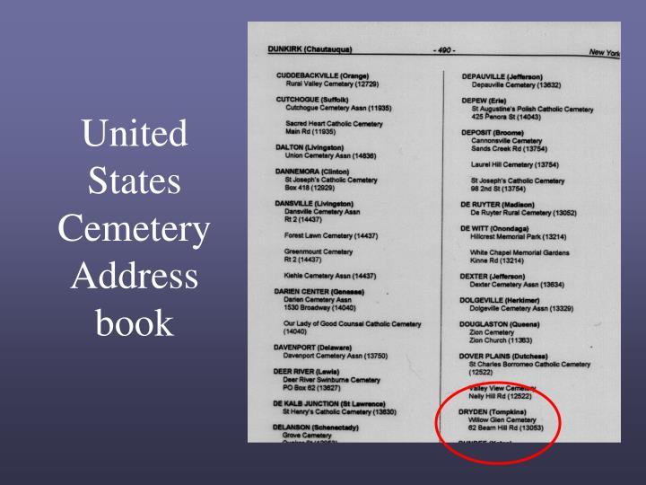 United States Cemetery Address